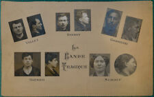 La Bande à Bonnot C.1913 original criminal identity gelatin photo set of 10