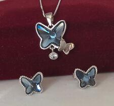 Schmuckset Schmetterling mit Swarovski® Kristallen 925 Sterling Silber UVP 149€