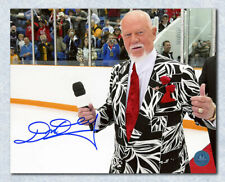 Don Cherry Autographed Hockey Night In Canada On Ice Red Carpet 8x10 Photo