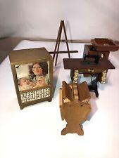 Vintage Dollhouse Miniature Lot Tv Shackman Record Player Sewing Machine