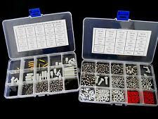 30value M3 M4 3x6 3x8 Brass Standoff Screw Nuts Washers Nylon 648pcs Box Kit