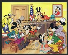 Caicos Islands 1985 Mark Twain Anniv Disney Characters minisheet SG MS90 un/mint