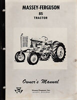 Massey Ferguson 85 Tractor Owner's Manual