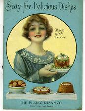 1919 Fleischmann Yeast Cook Book Booklet w/ 65 Delicious Dishes