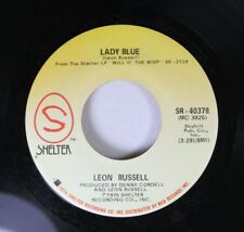 Rock 45 Leon Russell - Lady Blue / Laying Right Here In Heaven On Shelter (Mca)
