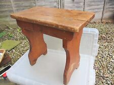 Grande Vintage Legno sgabello sedile a panchina passo PINO vecchio antico