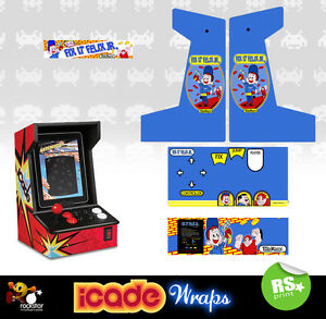 Icade Fix It Felix Full Set Arcade Artwork Graphics Sticker Sides Marquee Panels
