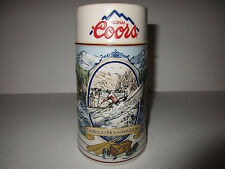COORS BEER STEIN - 1992 - THE ROCKY MOUNTAIN LEGEND SERIES