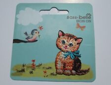 Kitten Motif - Iron On Embroidered Cat Applique Motif -  Iron on or Sew on Patch