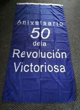More details for rare cuban 50th anniversary of the victorious revolution giant flag che guevara