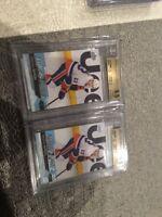 2016-17 Mathew Barzal Young Guns #458 UD RC BGS 9.5 Gem Mint Two Card Lot