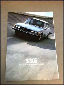 1977 BMW 530i Original Car Sales Brochure Catalog