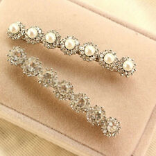 High-end Luxury Inlay Zircon Crystal Pearl Pin Clip Hair a Word Women's Charm