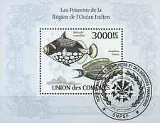 Timbre Poissons Comores BF263 o année 2010 lot 19457 - cote : 21 €