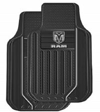 DODGE OEM RAM TRUCK LOGO Floor Mats Front Rubber All Weather Factory Liner Gray