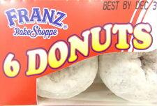 Northwest Franz Raspberry Filled Powdered Donuts Pastries 6Pcs - 1 Box Donuts