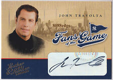 "2004 DONRUSS FANS OF THE GAME AUTO: JOHN TRAVOLTA-AUTOGRAPH""GREASE/PULP FICTION"""