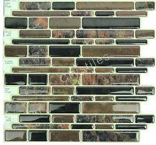 "Crystiles® Peel&Stick Self-Adhesive Tiles, Item# 91010885, 10""X10"", Set of 6"