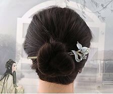 1Piece High Quality,5 Colors Rhinestone Crystal Antique Peacock Hair Sticks,