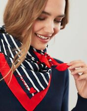 Joules Womens Tiewell Square Neckerchief - HEART STRIPE in One Size