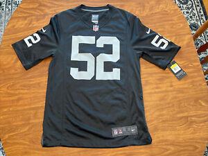 NFL Men's Nike Oakland Raiders Khalil Mack #52 On Field Jersey Size S