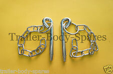 FREE UK Post - 2 x 10mm dia. 109mm Cotter Pin & Chain Trailers Horse Box