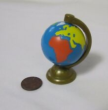 New FISHER PRICE Loving Family Dollhouse WORLD GLOBE Spins! ATLAS MAP for OFFICE