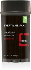 Deodorant by Every Man Jack, 3 oz 2 pack Cedarwood