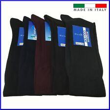 6 paia di calze in FILO DI SCOZIA da uomo lunghe calzini cotone 100%