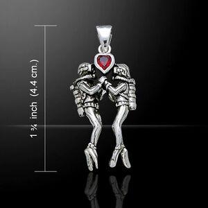Scuba Love .925 Sterling Silver Pendant Choice of Gem Peter Stone