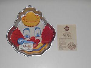 Wilton 1989 HAPPY CLOWN Bozo Circus Nurse Girl Birthday Party CAKE PAN #2105-802