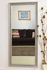 Large Wall Mirror Vintage Design Full Length Silver 5ft3 x 2ft5 160cm x 73cm