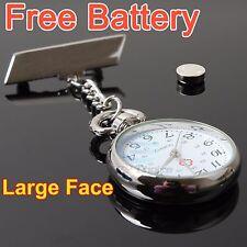 2*HQ Vintage Silver Nurse Nursing Doctor Pendant Pocket Fob Brooch Watch Watches