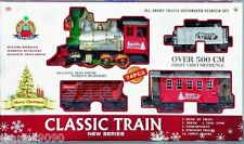 CHRISTMAS 24 PIECE BATTERY OPERATED CLASSIC TRAIN SET TRACK SMOKE HEADLIGHT