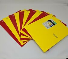 (10) Five Star 4 Pocket Folders, 3 Hole Punched, 10 Red & Yellow School Folders