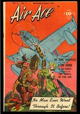Air Ace Vol. 3 #7 Nice Good Girl Bondage Cover Golden Age Comic 1947 FN