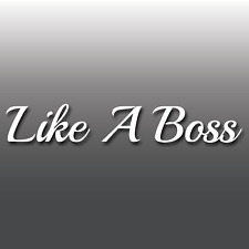 Like a Boss Funny Car Decal Drift  Bumper Sticker JDM, Euro, Laptop Sticker