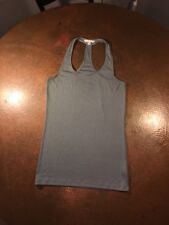 CAbi #426 Medium Ribbed Relaxed Gray Essential Tank Top Retail: $49 EUC