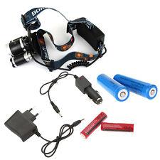 New Camping Headlamp 6000LM Headlight RJ-3000 Flashlight Torch US/EU Charger