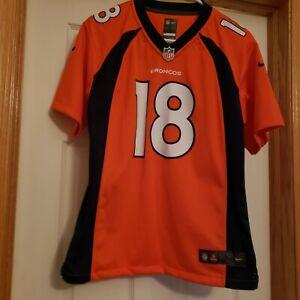 🔥Denver Broncos Peyton Manning #18 NFL Nike 🏈 Jersey Youth Large🤯