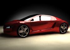 Papier peint photo mural rouge Voiture Sport 115x175cm décoration Ferrari Style
