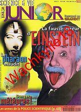 Science et vie junior 104 -05/1998 Einstein Pharaon Météores Police scientifique