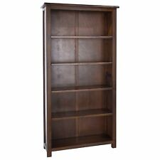 Tall Bookcase Dark Wood Baltia Bookcase Display Unit Solid Wood Living Furniture