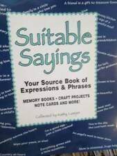 Suitable Sayings -Source Book Of Expressions & Phrases-Luetjen