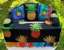 Sofa Couch Tissue Box Cover Hawaiian Rasta Pineapples Super Awesome Gift!