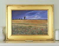 Newcomb Macklin Era Hand carved wood Frame & French Impressionist Painting.