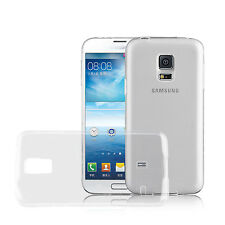 Samsung Galaxy S5 / S5 NEO Silicone Invisible Gel Back Cover with Tempered Glass