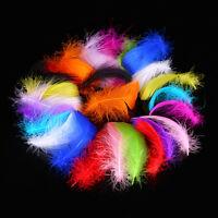 Beautiful 100pcs Natural Goose Feather DIY Wedding Party Decoration 10 Colors