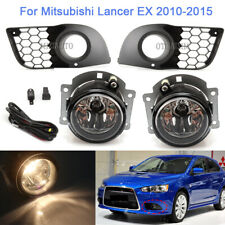 Fog Lamp Cover Bezel Light Harness Switch Set For Mitsubishi Lancer EX 2010-2015