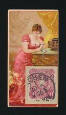 "1889 N85 Duke's Cigarettes POSTAGE STAMPS (""Genuine Foreign"") -Sad News"